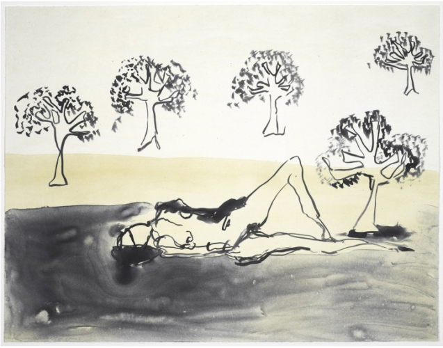 Laying with the Olive Trees by Tracey Emin at