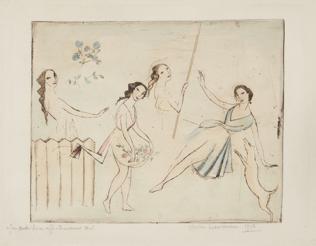 Le Ballet by Marie Laurencin at Isselbacher Gallery (IFPDA)