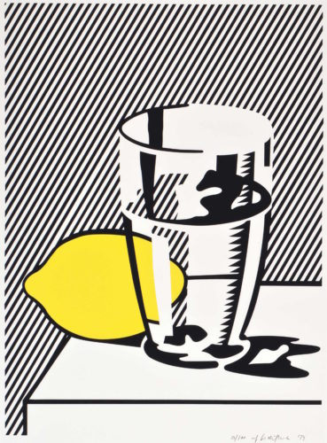 Untitled (Still Life with Lemon and Glass) for Meyer Schapiro by Roy Lichtenstein