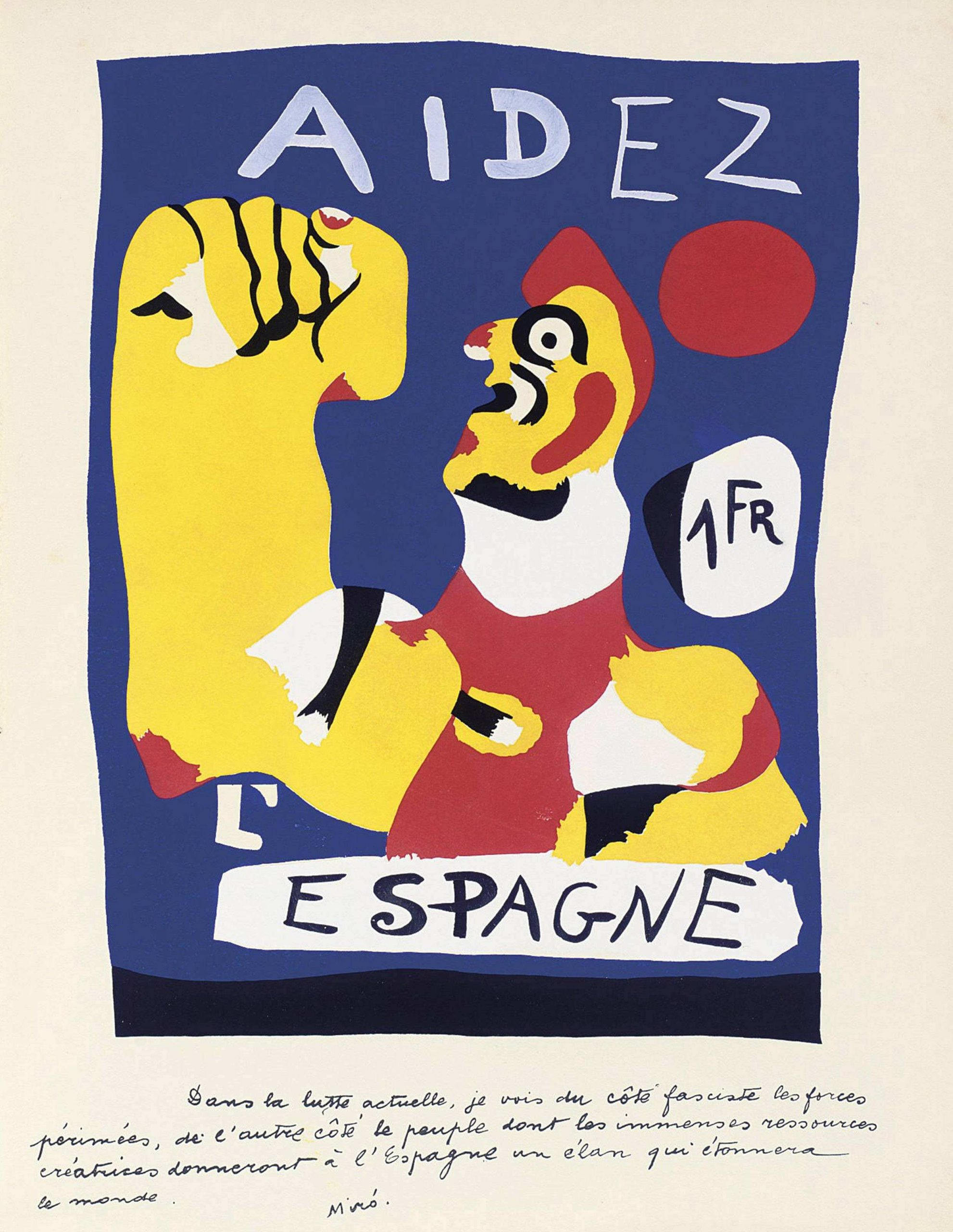 Aidez L'Espagne by Joan Miro