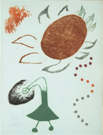 Untitled from Au Paradis des Fantomes by Joan Miro