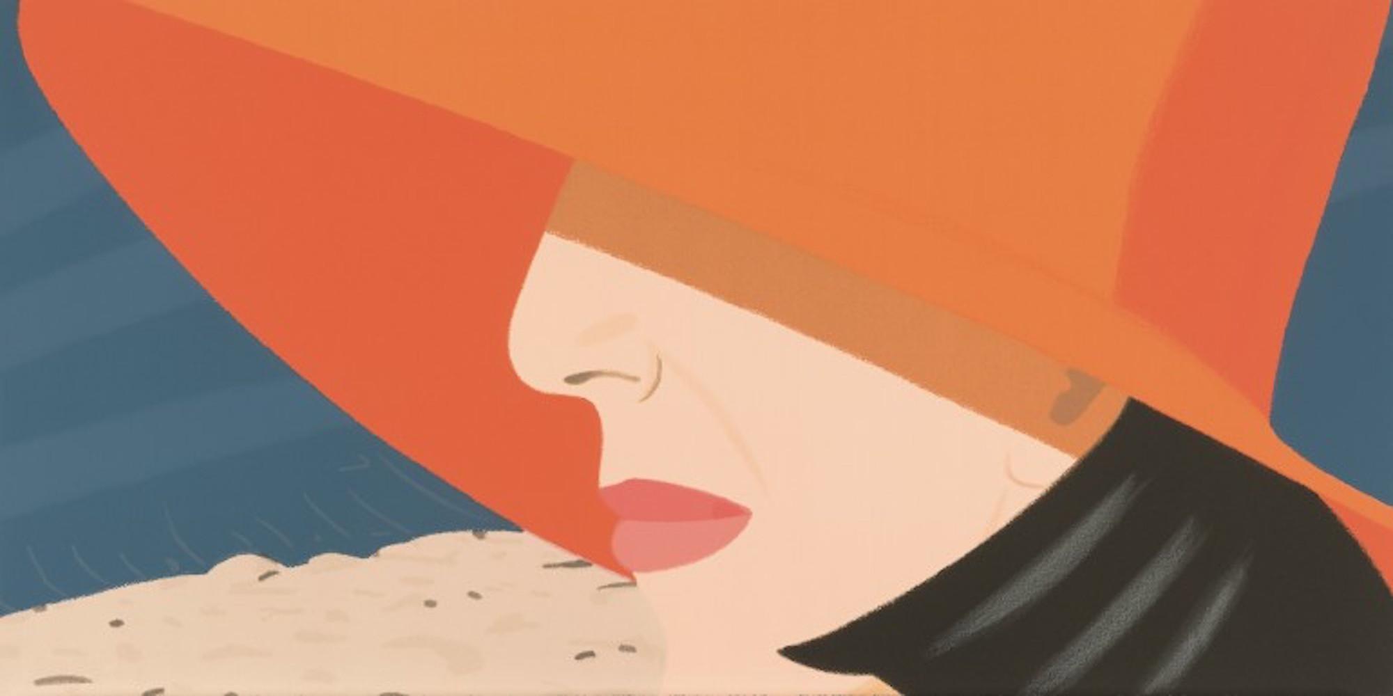 Orange Hat (Alex and Ada Suite) by Alex Katz