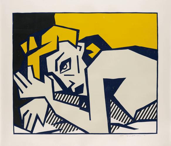 Reclining Nude by Roy Lichtenstein at
