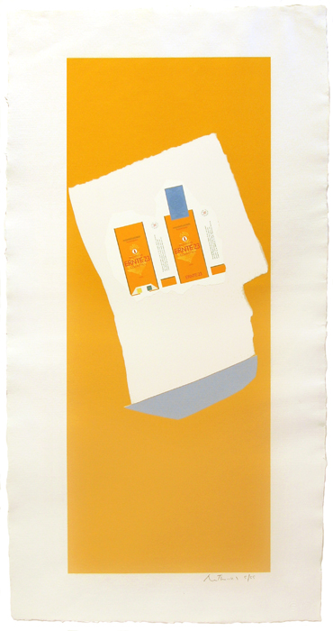 Harvest With Blue Bottom (from Summer Light Series) by Robert Motherwell