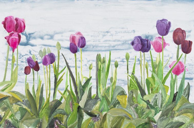 Quiet Backyard by Sari Davidson