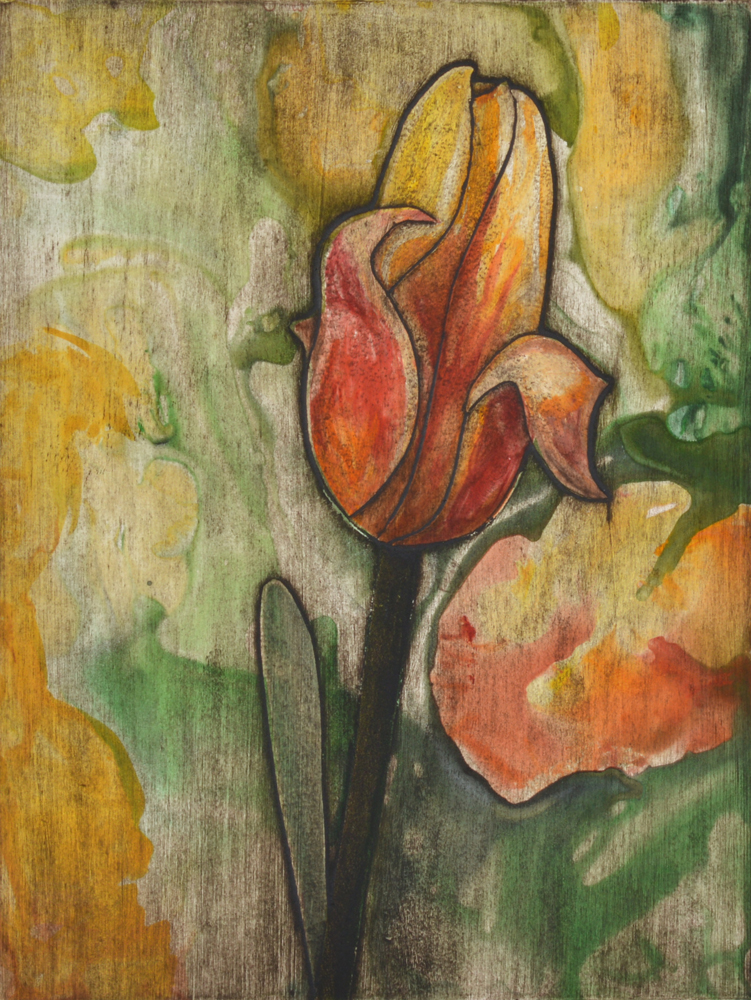 Yellow Tulip 5 by Sari Davidson