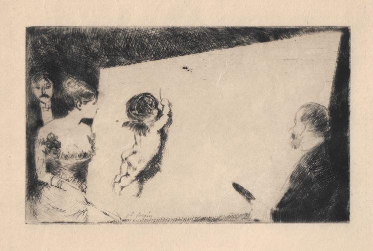 """Invitation du """"Monde Parisien"""" by Jean-Louis Forain at"""