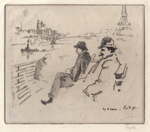Sur le bateau by Eugène Béjot