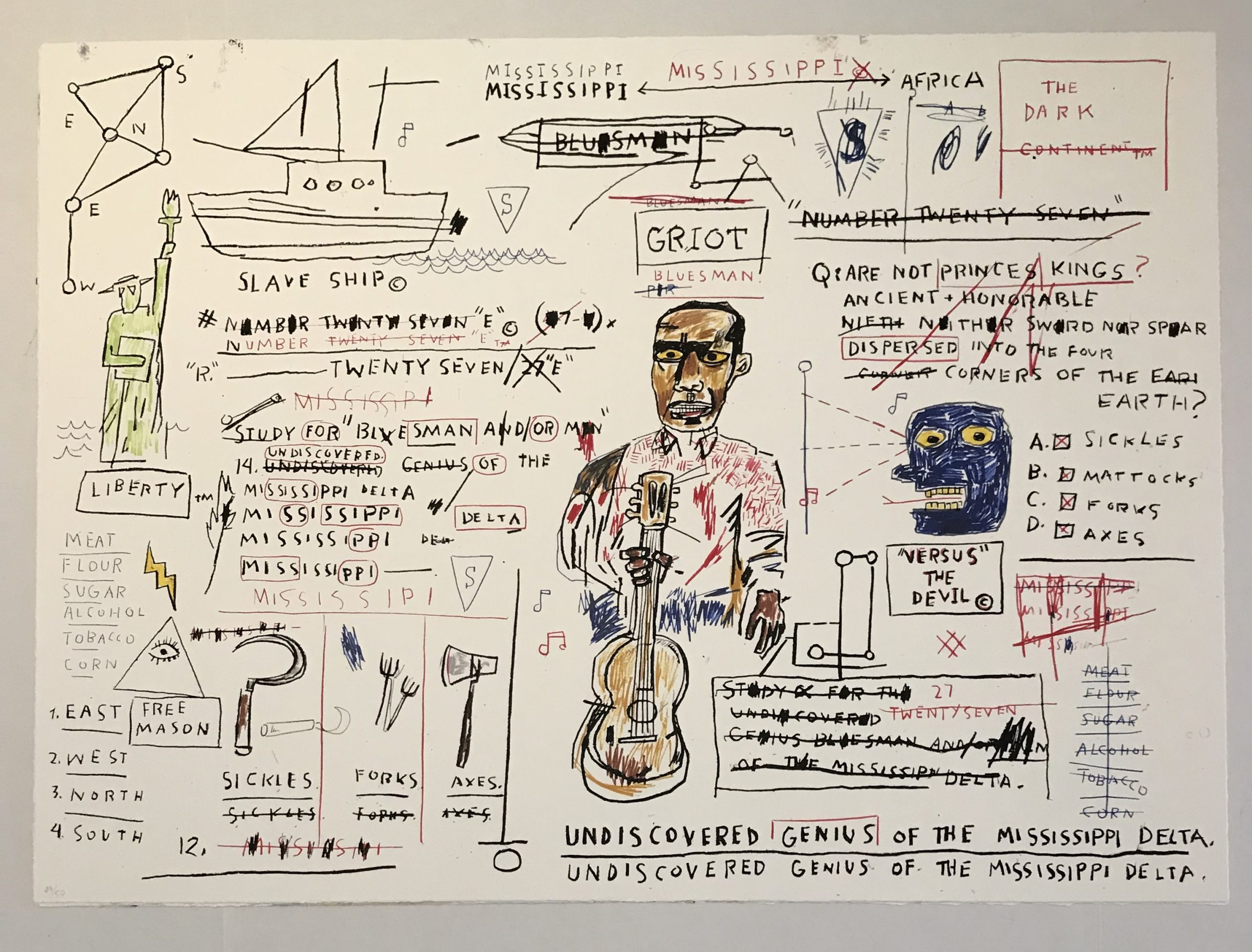 Undiscovered Genius by Jean-Michel Basquiat
