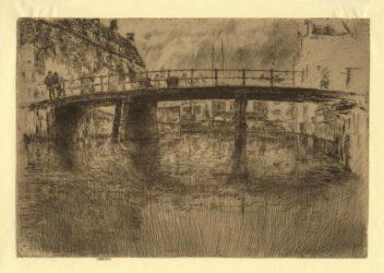 Bridge Amsterdam, final state by James Abbott McNeill Whistler at Harris Schrank Fine Prints (IFPDA)