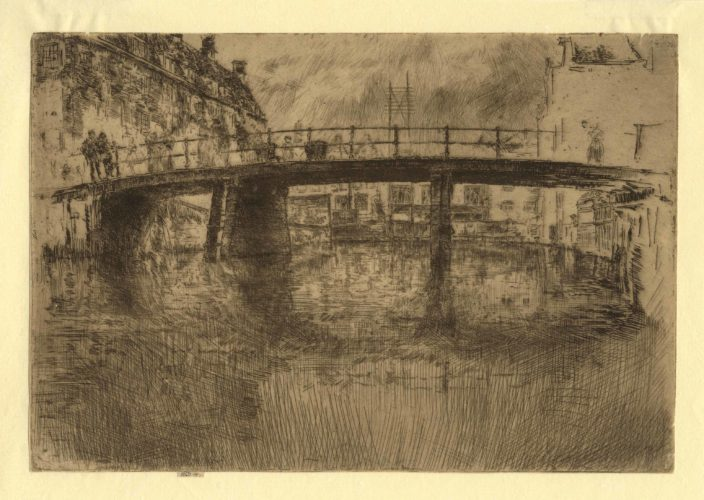 Bridge Amsterdam, final state by James Abbott McNeill Whistler