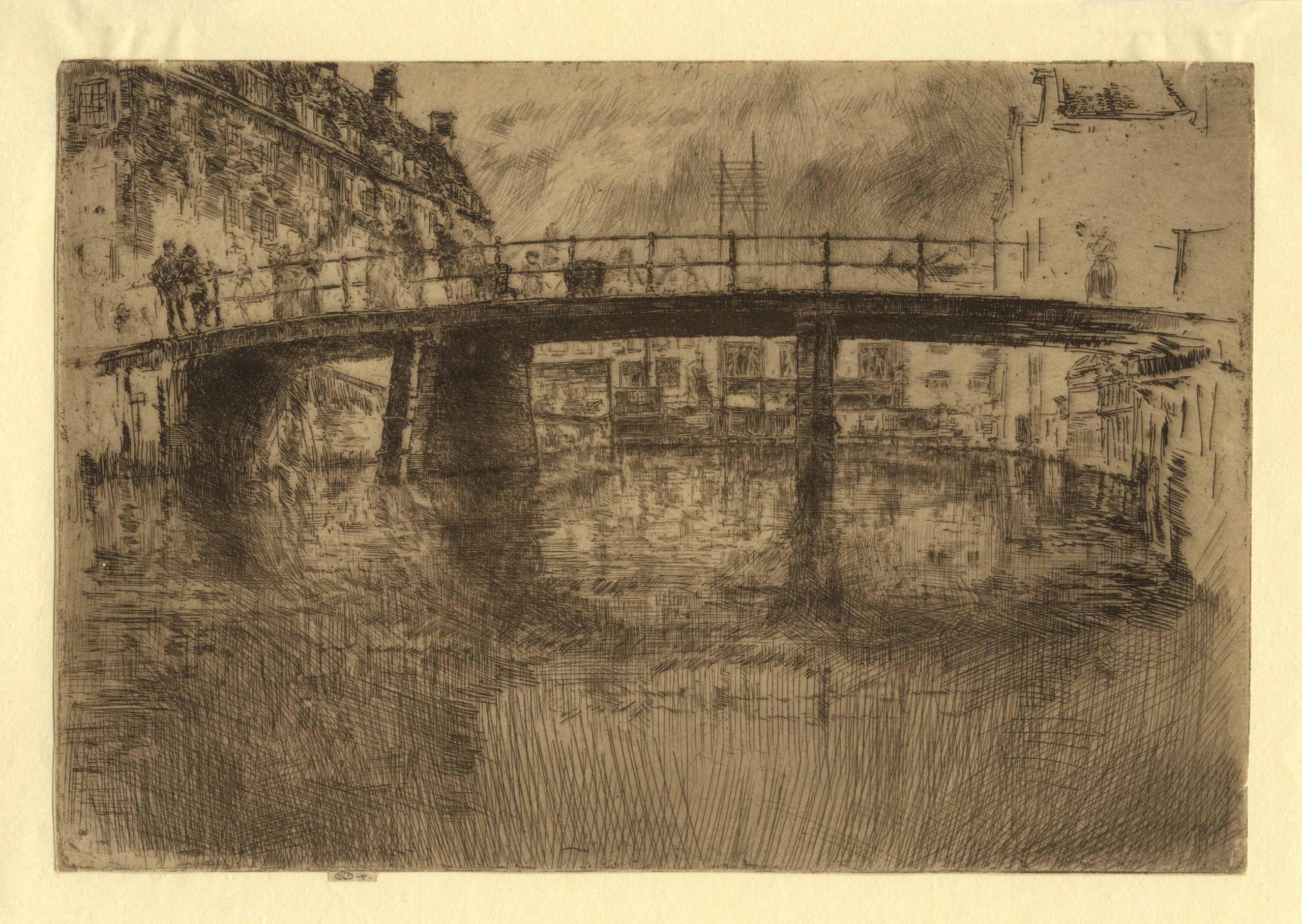 Bridge Amsterdam, final state by James Abbott McNeill Whistler