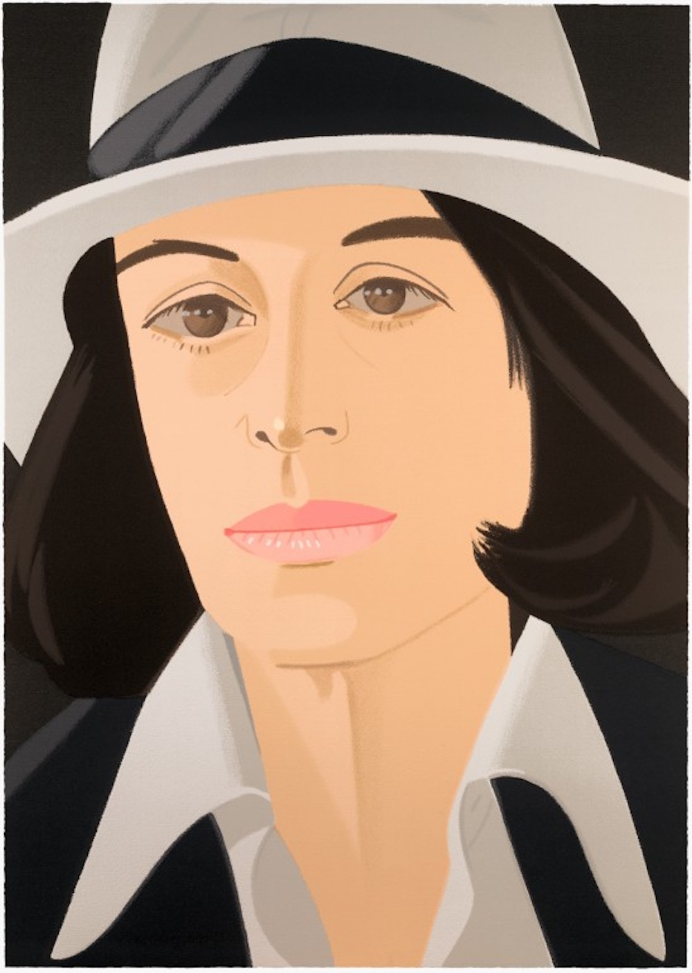 White Hat (Alex and Ada Suite) by Alex Katz