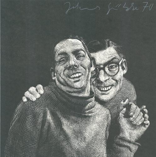 Zwei Männer by Johannes Grützke at