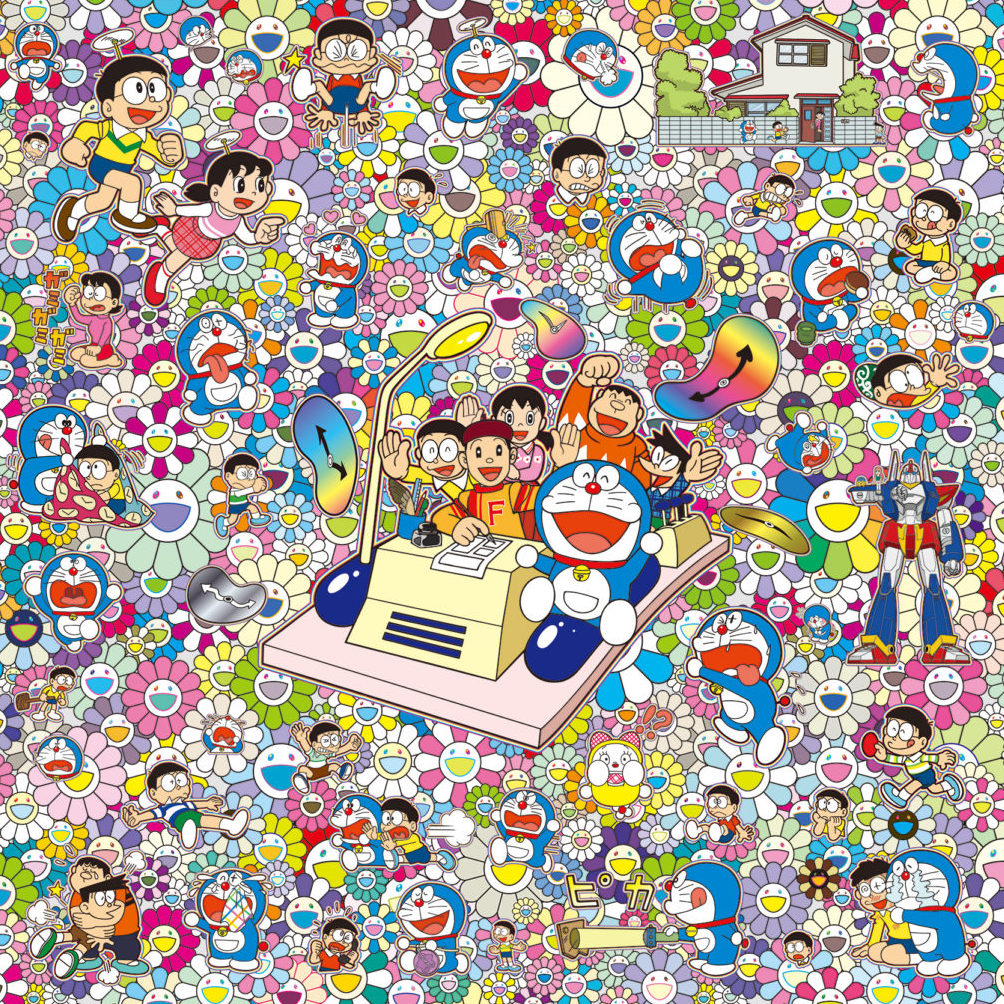 Everywhere with Fujiko F. Fujio-sensei and time machine! by Takashi Murakami