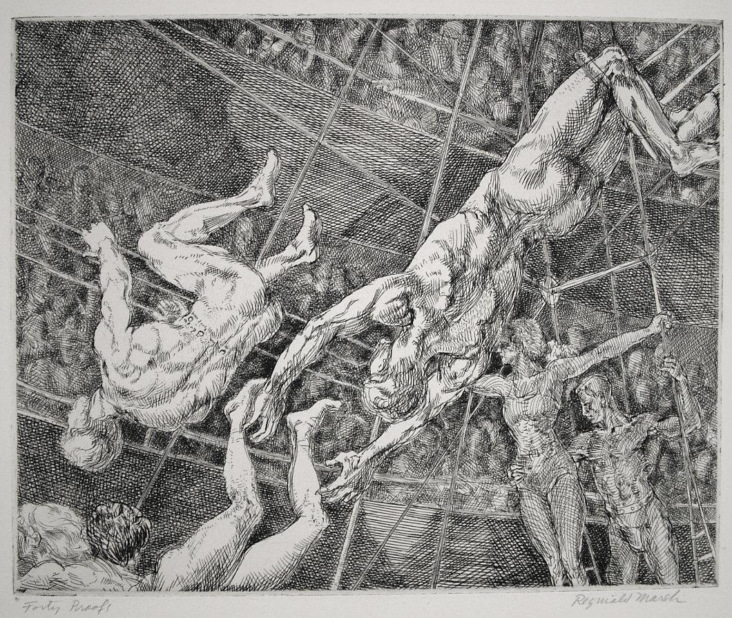 Flying Concellos by Reginald Marsh