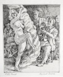 Fan Dance at Jimmy Kelly's by Reginald Marsh at Harris Schrank Fine Prints (IFPDA)