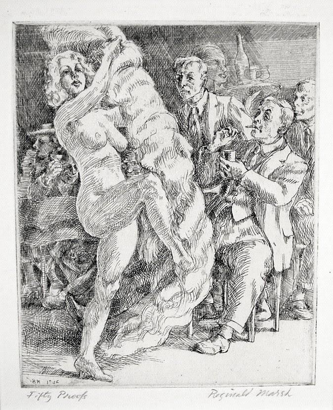 Fan Dance at Jimmy Kelly's by Reginald Marsh