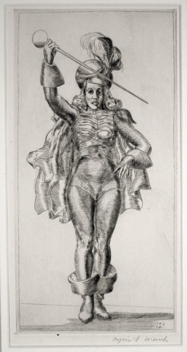 Drum Majorette by Reginald Marsh