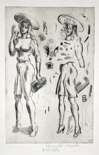 Girl Standing – Repeated by Reginald Marsh