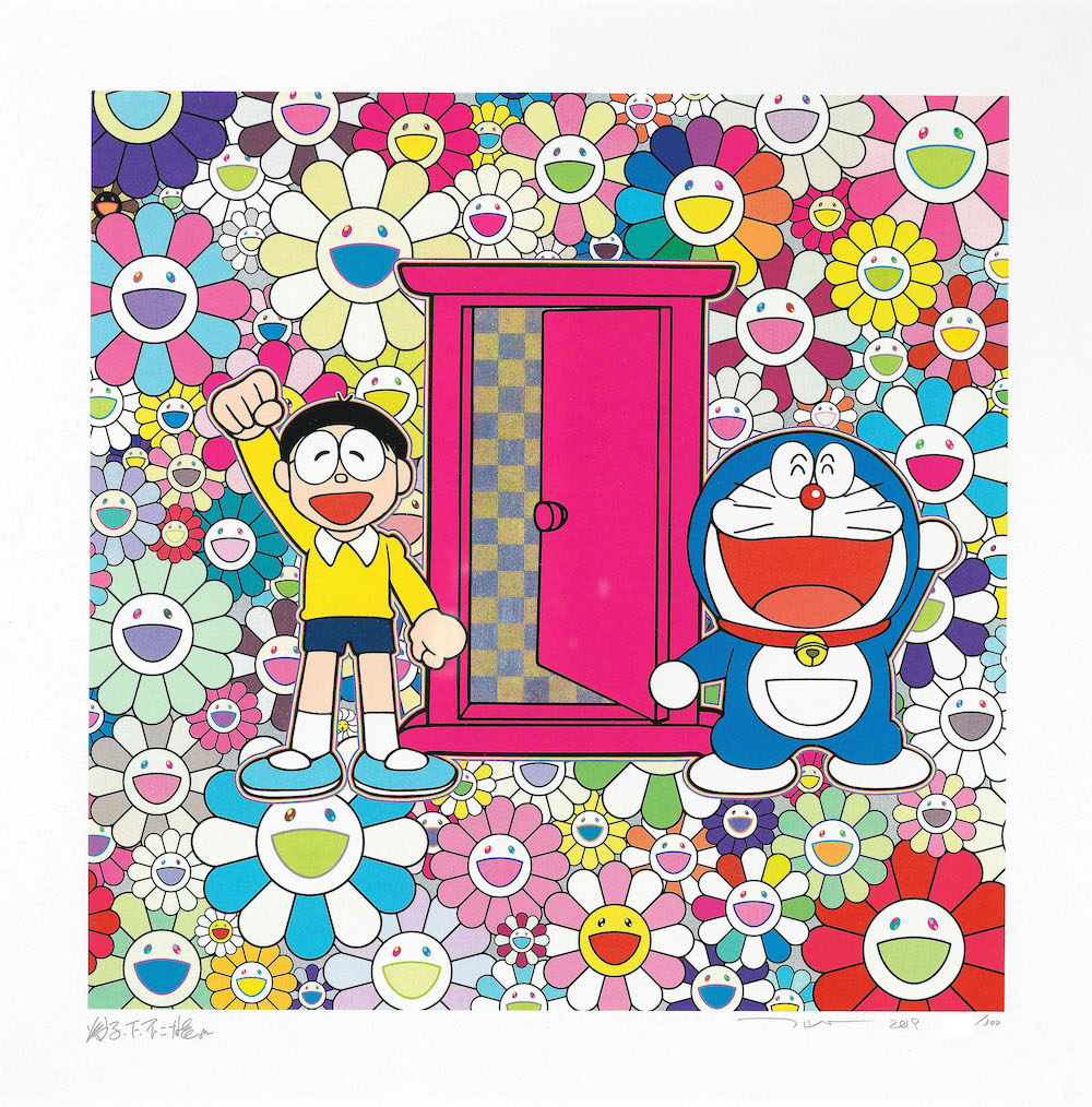 We Came to the Field of Flowers Through the Anywhere Door by Takashi Murakami