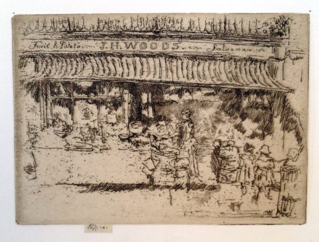 J.H. Woods' Fruit Shop, Chelsea by James Abbott McNeill Whistler at