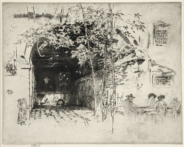 The Traghetto by James Abbott McNeill Whistler at