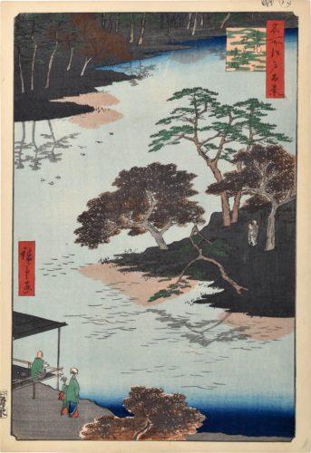 One Hundred Famous Views of Edo: Inside Akiba Shrine, Ukeji by Utagawa Hiroshige