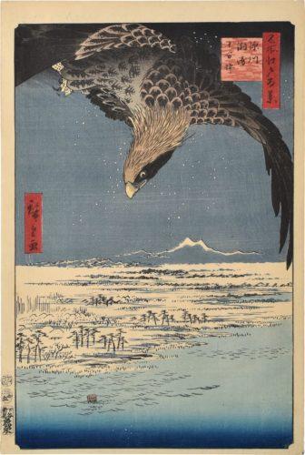 One Hundred Famous Views of Edo: Fukagawa Susaki and Jumantsubo by Utagawa Hiroshige