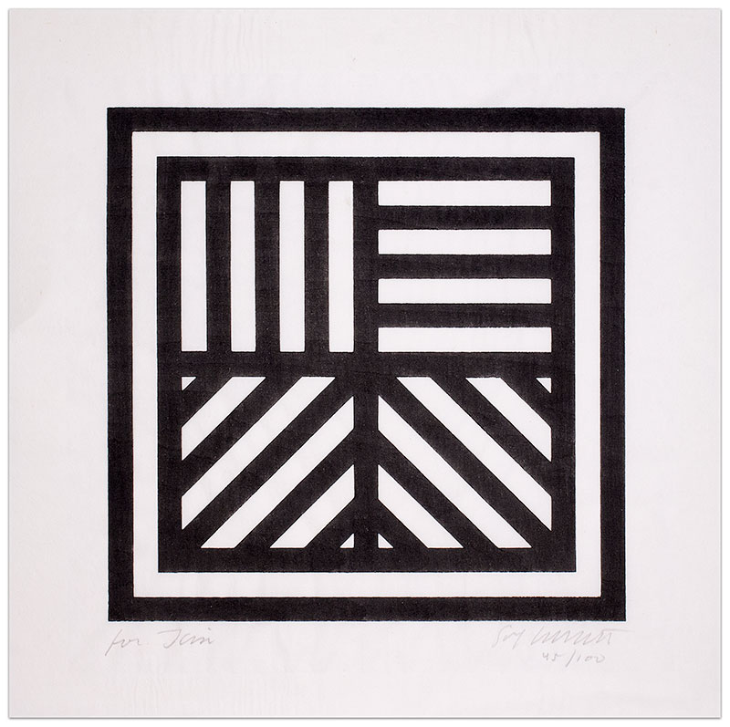 Lines In Four Directions by Sol Lewitt