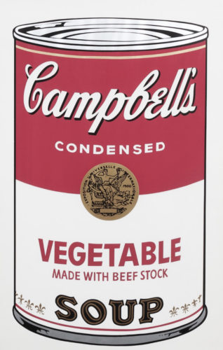 Campbell's Soup I: Vegetable by Andy Warhol at Andy Warhol