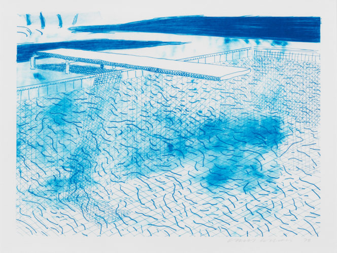 Lithograph of Water Made of Lines by David Hockney at David Hockney