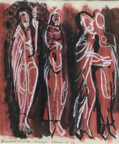 Annunciation & Visitation at Leyre Navarre by John Piper