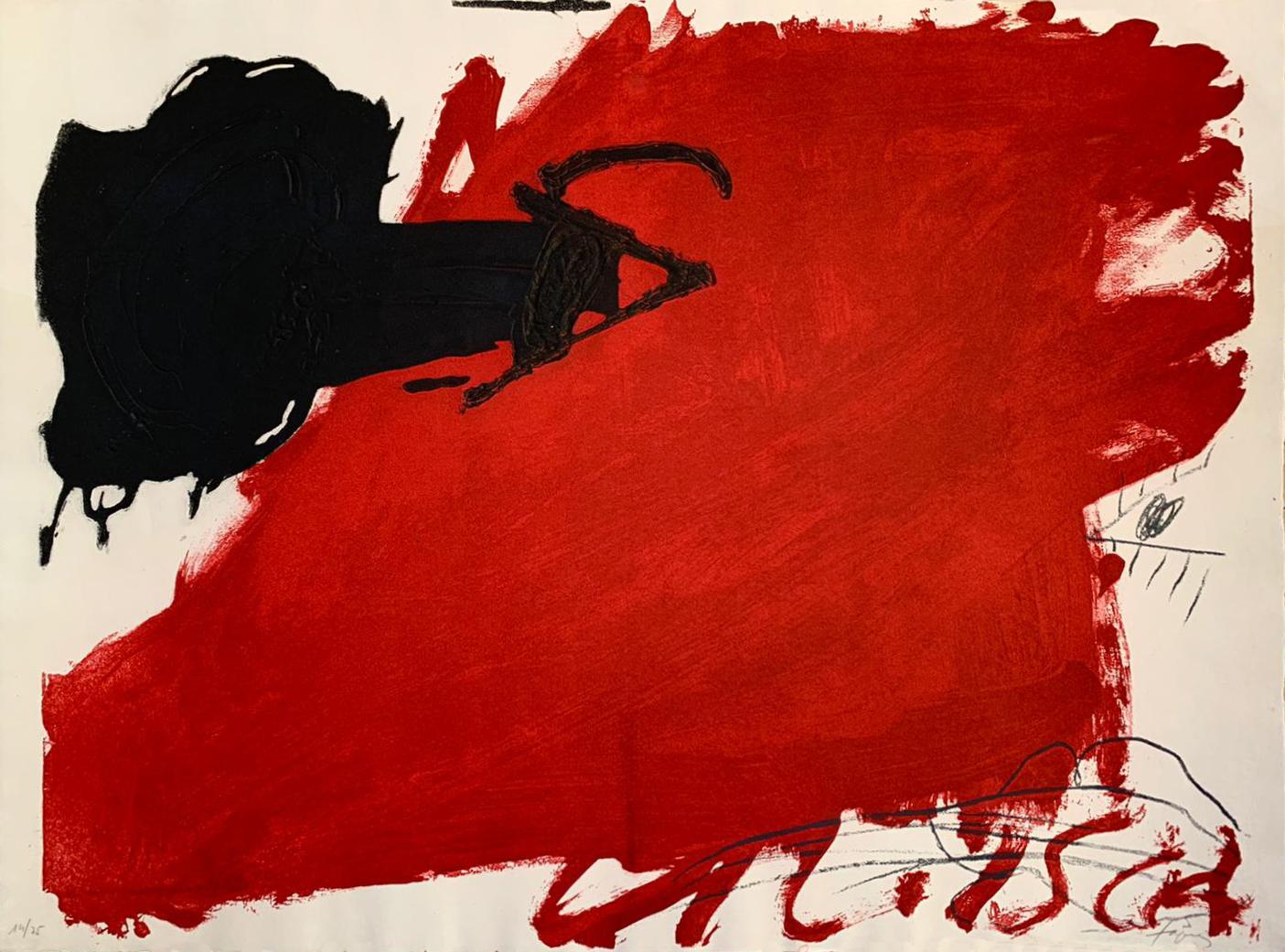 Gran Toca Roja by Antoni Tapies
