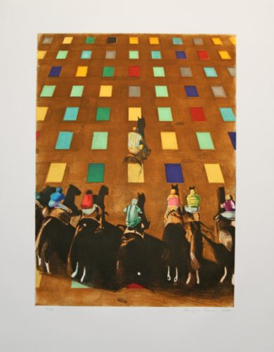 Steeplechase by Christopher Brown at Leslie Sacks Gallery (IFPDA)