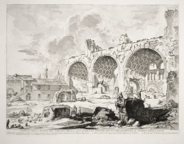 The Basilica of Constantine (3rd State) by Giovanni Battista Piranesi at