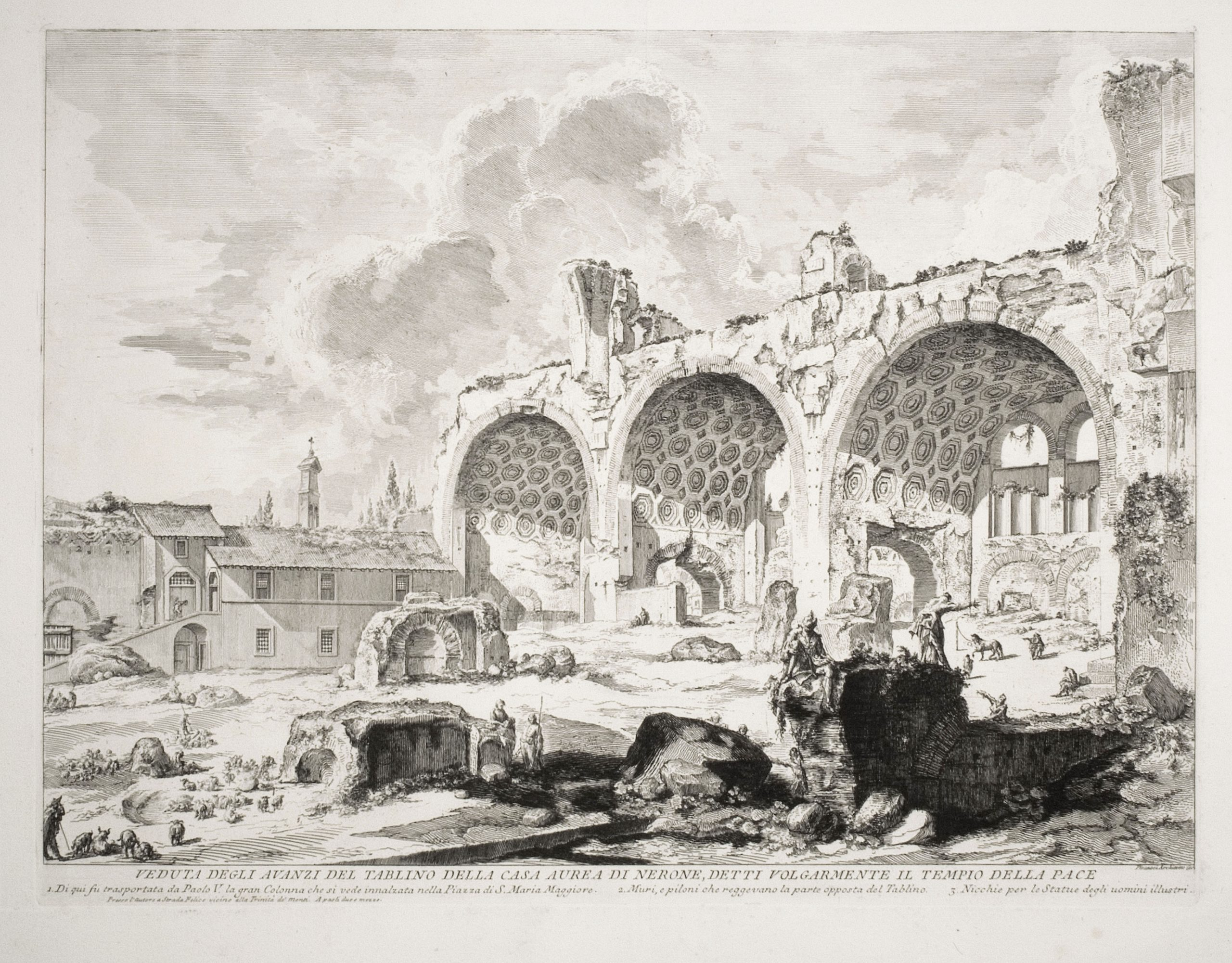 The Basilica of Constantine (3rd State) by Giovanni Battista Piranesi