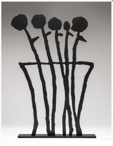 Black Flowers Sculpture by Donald Baechler