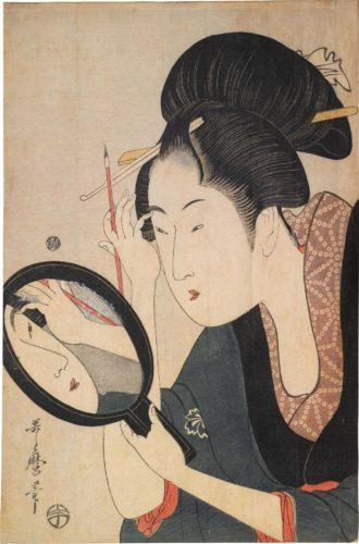 Painting the Eyebrows by Kitagawa Utamaro