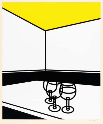 Black and White Cafe by Patrick Caulfield