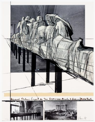 Aegena Temple Project for Munich Glyptotek by Christo at