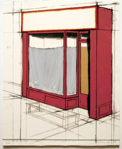 Pink Store Front, Project from Marginalia by Christo at