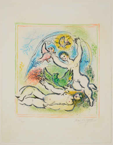 In the Land of the Gods by Marc Chagall at