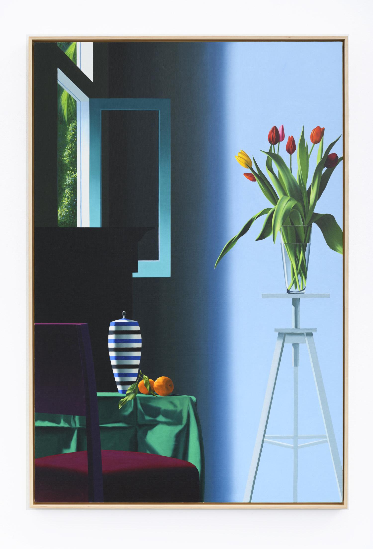 Flowers on Tripod by Bruce Cohen