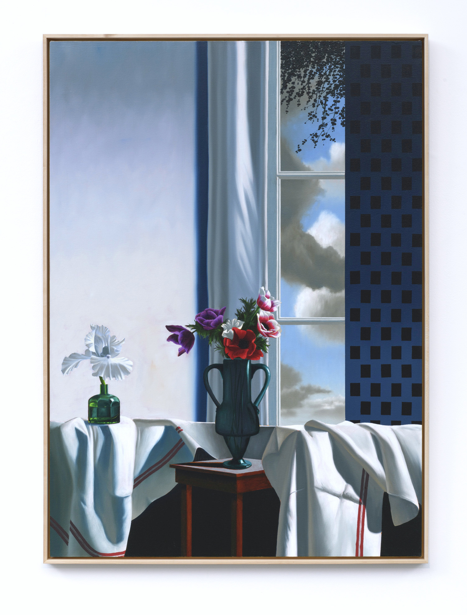 Interior with Bearded Iris and Anemones by Bruce Cohen