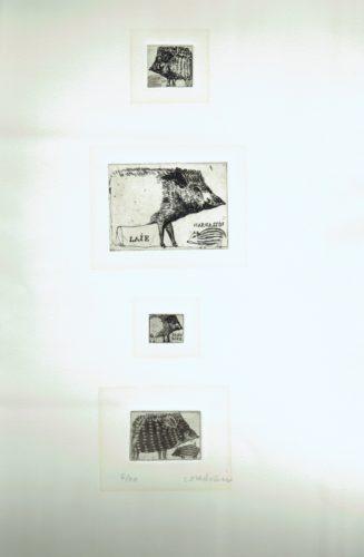 'Sanglier', 'Sangliers I', 'Sangliers II', 'Sangliers III by Brigitte Coudrain