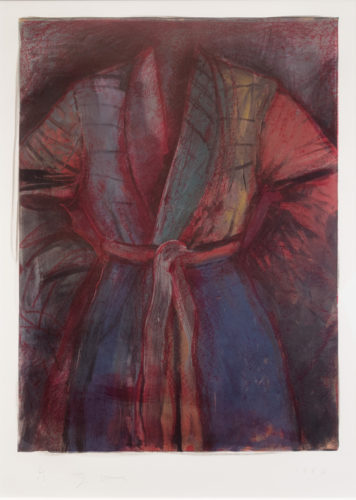 Red Robe in France by Jim Dine at