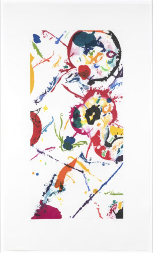 Leo Rising by Sam Francis at Leslie Sacks Gallery (IFPDA)