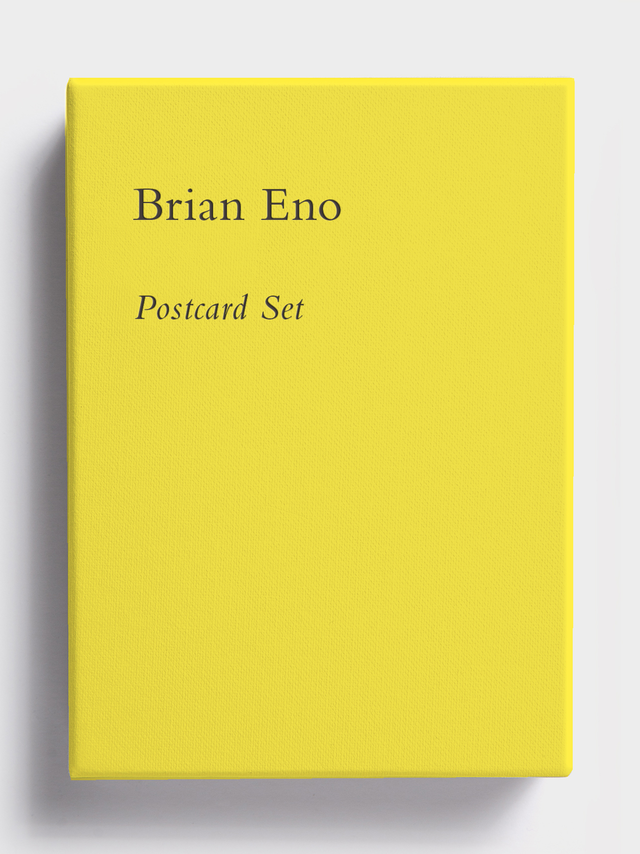 Postcard Set (Factory Yellow) by Brian Eno