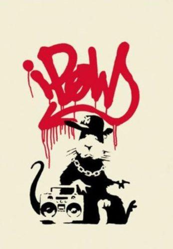 Gangsta Rat (Signed) by Banksy